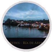 Redes Ria De Ares La Coruna Spain Round Beach Towel