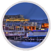 Redondo Landing Round Beach Towel by Richard J Cassato