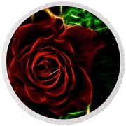 Red's Passion Round Beach Towel