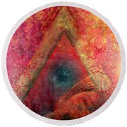 Redstargate Round Beach Towel