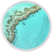 Reef Textures Round Beach Towel by Az Jackson