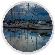Reefpoint Marina Square Format Round Beach Towel