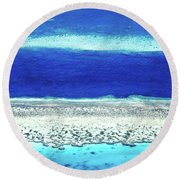 Reefs Edge Round Beach Towel by Az Jackson