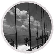 Reel Clouds Round Beach Towel
