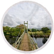 Reeth Swing Bridge Round Beach Towel