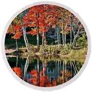 Reflected Beauty Round Beach Towel by Aimelle