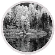 Reflected Glories Round Beach Towel