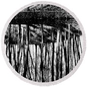 Reflected Landscape Patterns Round Beach Towel
