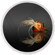 Reflected Onion No. 3 Round Beach Towel by Joe Bonita