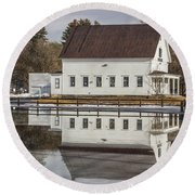 Reflected Town House Round Beach Towel