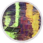 Reflecting Abstract Round Beach Towel