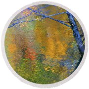 Reflecting Autumn Round Beach Towel