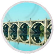 Reflecting Bridge Round Beach Towel