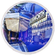 Reflecting On A Kenworth Round Beach Towel