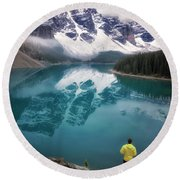 Reflecting On Reflections Round Beach Towel