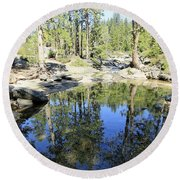 Round Beach Towel featuring the photograph Reflecting Pond by Sean Sarsfield