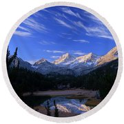 Reflecting Pool Round Beach Towel