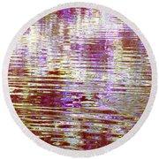 Reflecting Purple Water Round Beach Towel