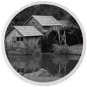 Reflecting The Mill Round Beach Towel by Eric Liller