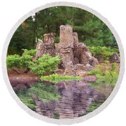 Round Beach Towel featuring the photograph Reflection by Colleen Cornelius