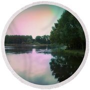 Reflection. Round Beach Towel by Eskemida Pictures