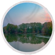 Reflection II Round Beach Towel