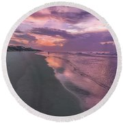 Reflection Of The Dawn Round Beach Towel
