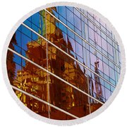 Reflection Of The Past - Tulsa Round Beach Towel