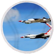 Round Beach Towel featuring the photograph Reflection Pass by Bryan Carter