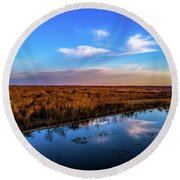 Reflection Pool Round Beach Towel