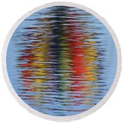 Reflection Round Beach Towel by Steve Stuller