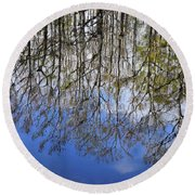 Reflection Straight Up Round Beach Towel