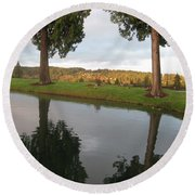 Reflections #183 Round Beach Towel by Barbara Tristan
