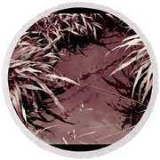 Round Beach Towel featuring the photograph Reflections 2 by Mukta Gupta