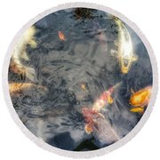 Reflections And Fish 3 Round Beach Towel by Isabella F Abbie Shores FRSA