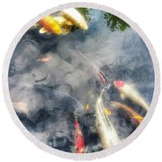 Reflections And Fish 4 Round Beach Towel