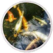 Reflections And Fish 7 Round Beach Towel