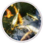 Reflections And Fish 7 Round Beach Towel by Isabella F Abbie Shores FRSA