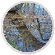 Reflections I Round Beach Towel