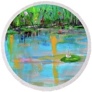 Reflections In Spring Round Beach Towel