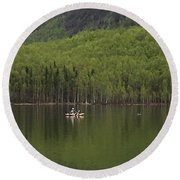 Reflections In The Lake Round Beach Towel