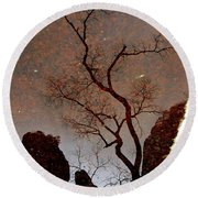 Reflections In Zion Round Beach Towel by Daniel Woodrum