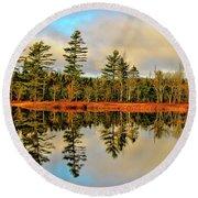 Reflections Round Beach Towel by Kathleen Sartoris