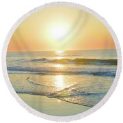 Reflections Meditation Art Round Beach Towel