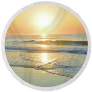 Reflections Meditation Art Round Beach Towel