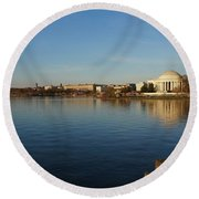 Reflections  Round Beach Towel by Megan Cohen
