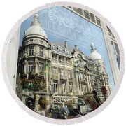 Reflections Of Architecture  Round Beach Towel