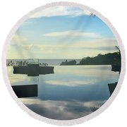 Reflections Of Bali Round Beach Towel