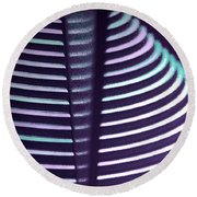 reflections of Circles   Round Beach Towel by Haleh Mahbod