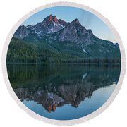 Reflections Of Elk Mountain Round Beach Towel